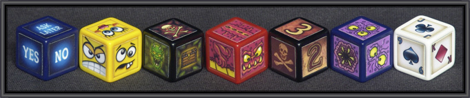indented blank dice designs
