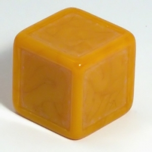 Dark yellow indented dice