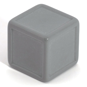 Light grey indented dice