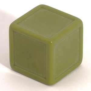 Army green indented dice