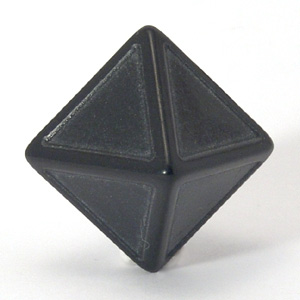 8 Sided Black Indented Dice