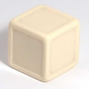 Ivory indented dice