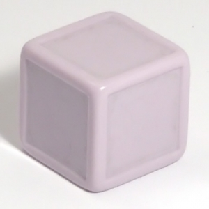 Pale lilac indented dice