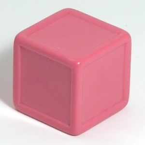 Pink indented dice