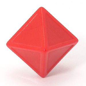 8 Sided Red Indented Dice