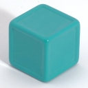 Aqua indented dice
