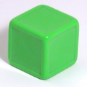 Bright green indented dice