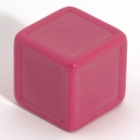 Cerise indented dice