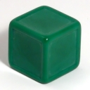 Dark green indented dice