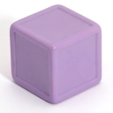 Lilac indented dice