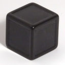 Black indented dice