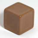 Brown indented dice