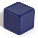 Dark blue indented dice