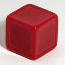 Dark red indented dice