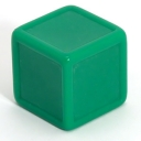 Medium green indented dice