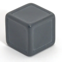 Grey indented dice