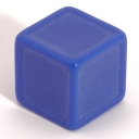 Medium blue indented dice
