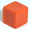 Orange indented dice