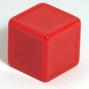 Red indented dice