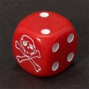 Skull dice - red with spots