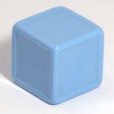 Sky blue indented dice
