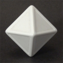 8 Sided White Indented Dice