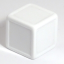 White indented dice
