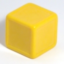 Yellow indented dice